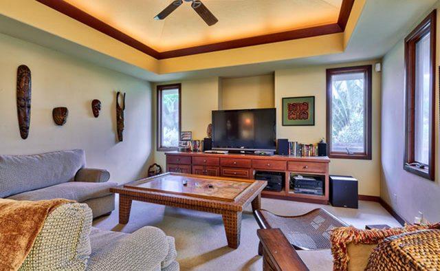 Cape Palm - TV Room - Waimea, Hawaii Vacation Home