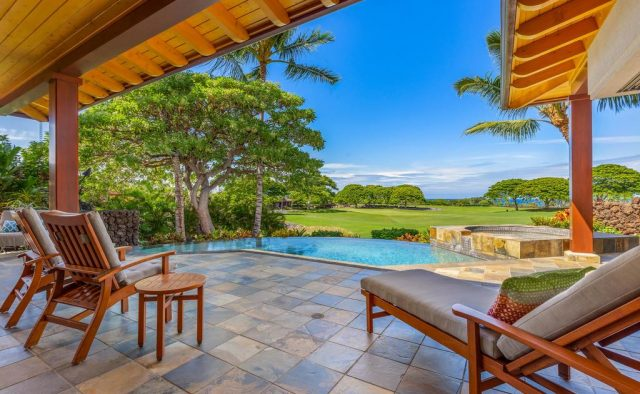 Maluhia Hale - Patio and pool - Hawaii Vacation Home