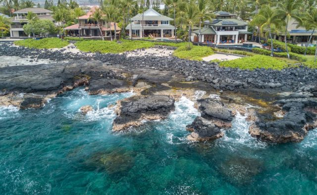 Opal Estates - Black beach and back of house - Hawaii Vacation Home