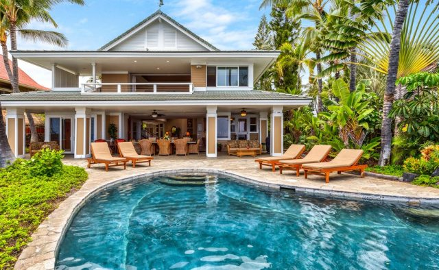Opal Estates - Pool and back of home - Hawaii Vacation Home