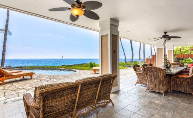 Opal Estates - Patio seating - Hawaii Vacation Home