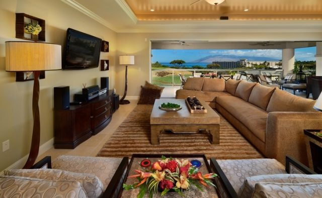 Aqualite - Living room with view - Maui Vacation Home