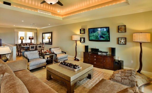 Aqualite - Living Area and TV - Maui Vacation Home