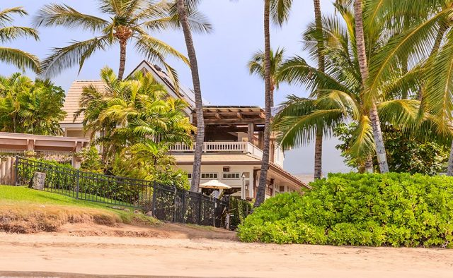 Beach Treasure - Rear view of the house - Hawaii Vacation Homes