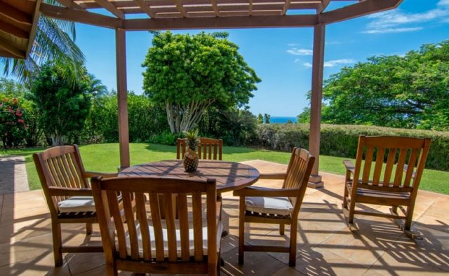 Misty Rose - Patio Dining Table - Maui Vacation Home