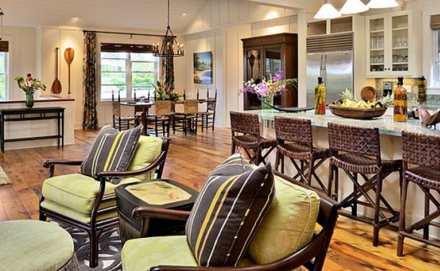 Beach Slippers - Kitchen and living area - Hawaii Vacation Home
