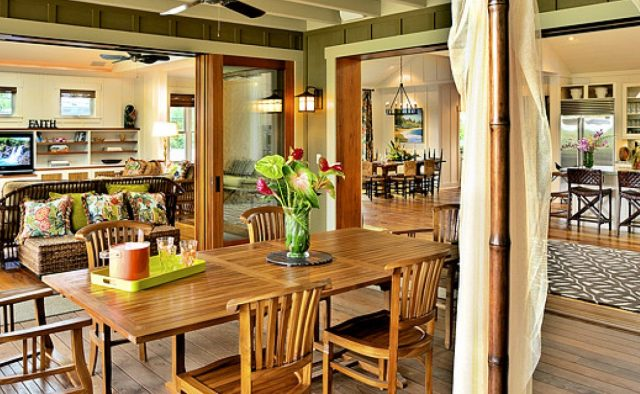 Beach Slippers - patio and kitchen - Hawaii Vacation Home