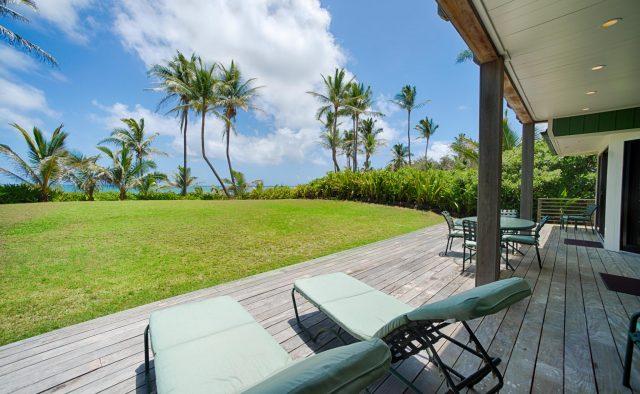 Beachscape - Back Patio - Kauai Vacation Home