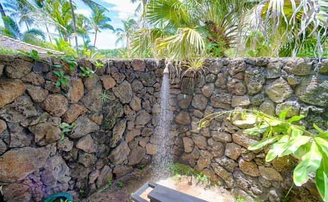Beachscape - Outdoor Shower - Kauai Vacation Home