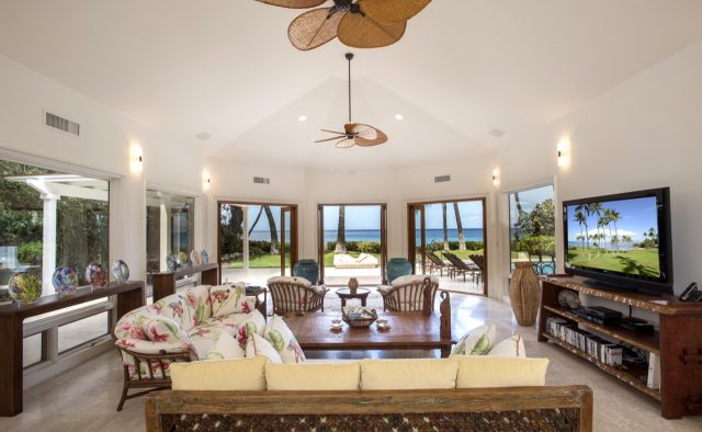 Sunny Surf - Living Room - Luxury Vacation Rentals