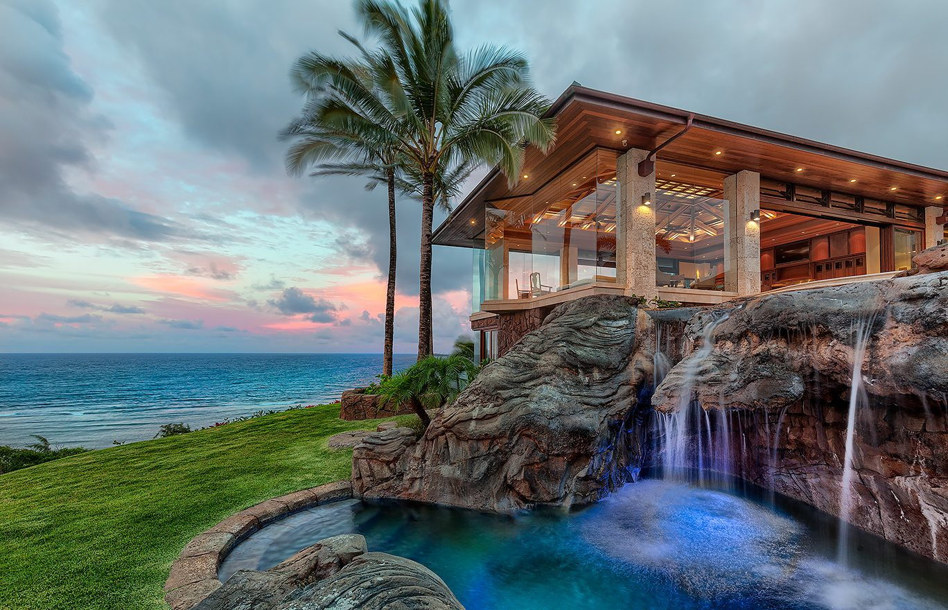 Goddess of the Sea - Waterfall Feature - Hawaii Vacation Home