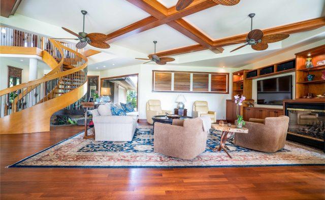 Princeville Paradise Luxury Home Rental - Living Area - Hawaii Hideaways