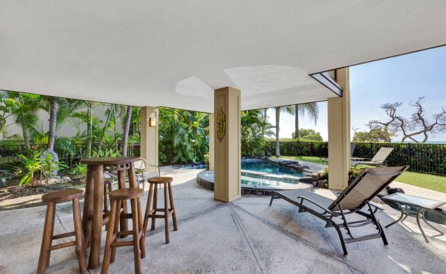 Cool Waters - Patio seating area - Hawaii Vacation Home