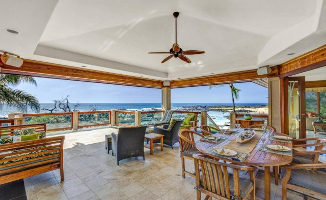 Cool Waters - Dining area and patio - Hawaii Vacation Home