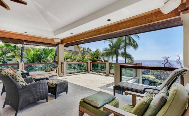 Cool Waters - Back Patio seating - Hawaii Vacation Home
