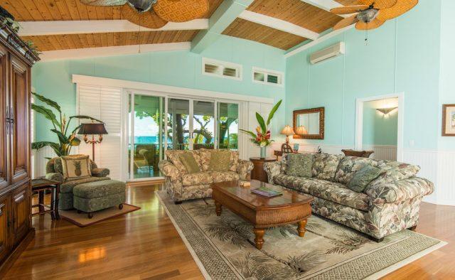 Healing Waters - living area - Kauai Vacation Home