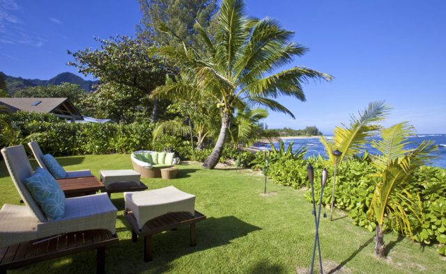 Hidden Passion - Backyard Lounge Chairs and ocean views - Kauai Vacation Home