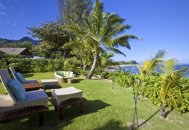 Hidden Passion - Backyard Lounge Chairs and ocean views - Kauai Vacation Home