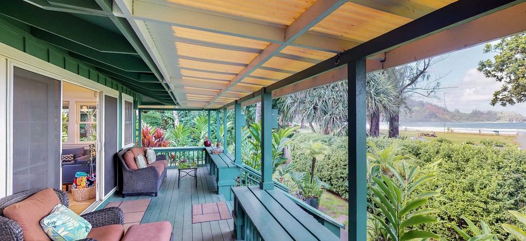 Natural Harmony - Deck looking at beach - Kauai Vacation Home