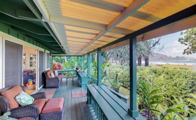 Natural Harmony - Deck looking at beach - Kauai Vacation Home