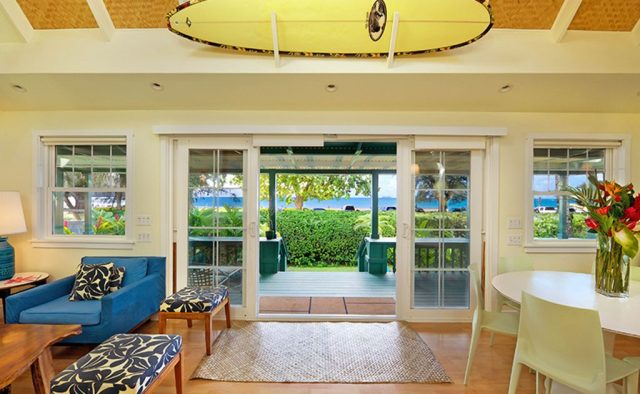 Natural Harmony - Living area connected to deck - Kauai Vacation Home