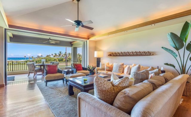 Hualalai 4202 - Living Area - Hawaii Vacation Home