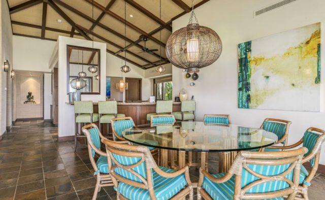 Hualalai Resort Fairway Villa 116D - Dining area - Hawaii Vacation Home