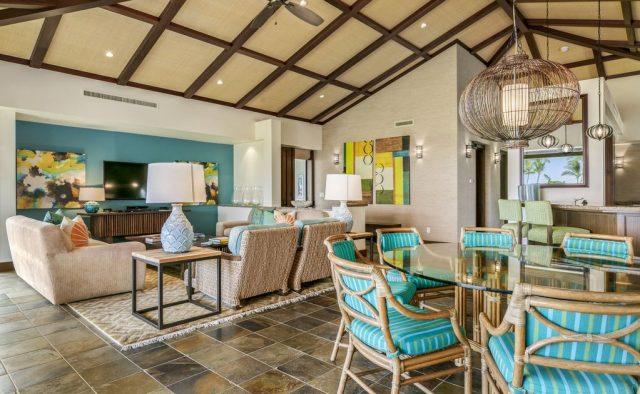 Hualalai Resort Fairway Villa 116D - Dining and living area - Hawaii Vacation Home