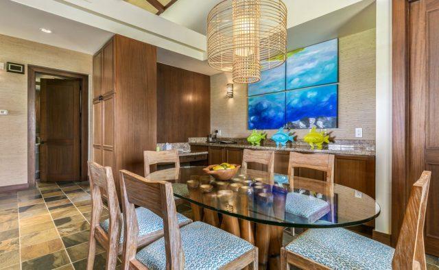 Hualalai Resort Fairway Villa 116D - Formal Dining area - Hawaii Vacation Home