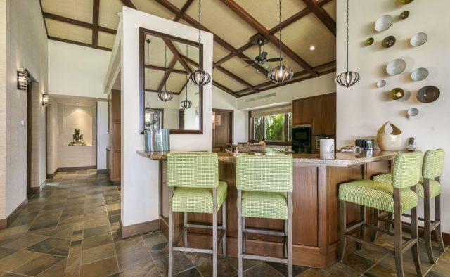 Hualalai Resort Fairway Villa 116D - Kitchen Counter - Hawaii Vacation Home
