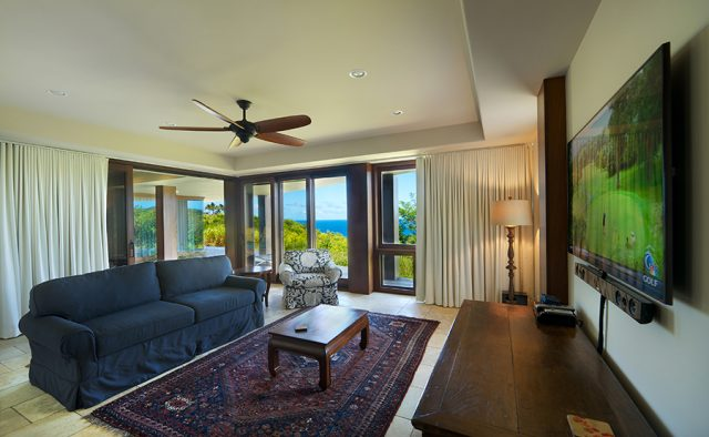 Lavishly Teak - TV Room - Kauai Vacation Home