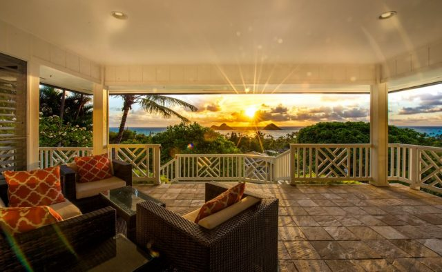 Kehaulani - Sunset from the Balcony - Oahu Vacation Home
