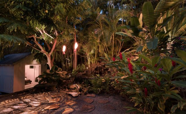 Kehaulani - Tiki Torches in the backyard - Oahu Vacation Home