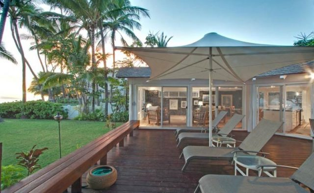 Just Beachy - Back Deck - Maui Vacation Home