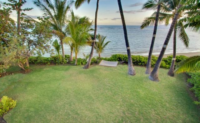Just Beachy - Backyard and hammock - Maui Vacation Home