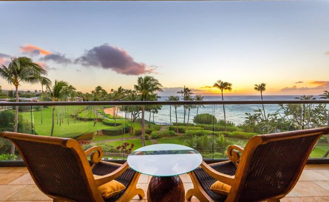 Ocean Breeze at Montage - Charis looking out at beach - Maui Vacation Home