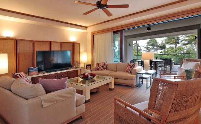 Coral Reef Luxury Home Rental - Living Area - Hawaii Hideaways