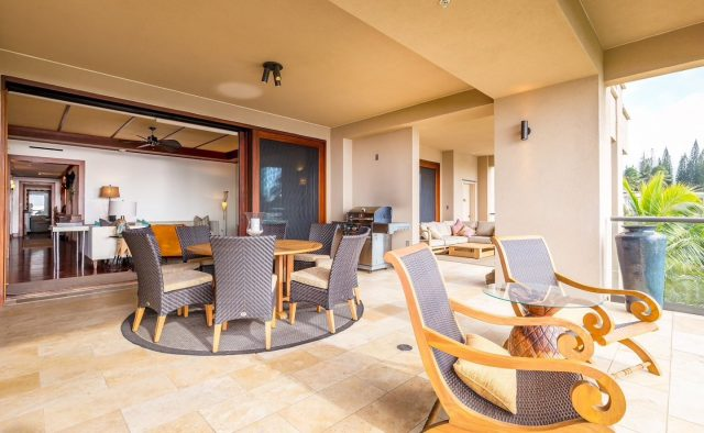 Ocean Breeze at Montage - Dining area and patio - Maui Vacation Home