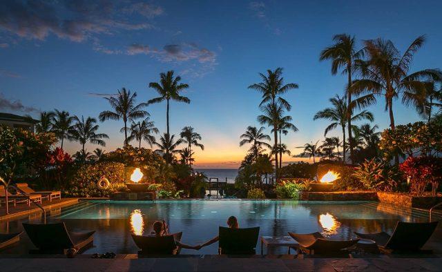 Humu Humu at Montage - Pool at Dusk - Hawaii Vacation Home