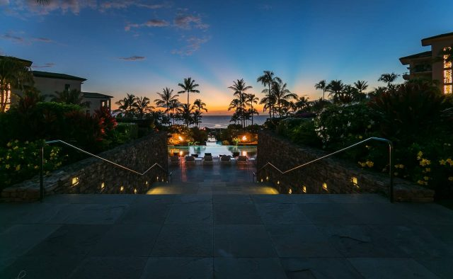 Ocean Breeze at Montage - Community Pool Walkway - Maui Vacation Home