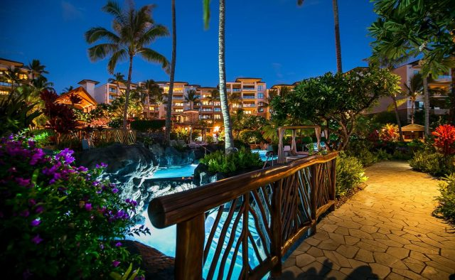 Ocean Breeze at Montage - Community Pool bridge - Maui Vacation Home