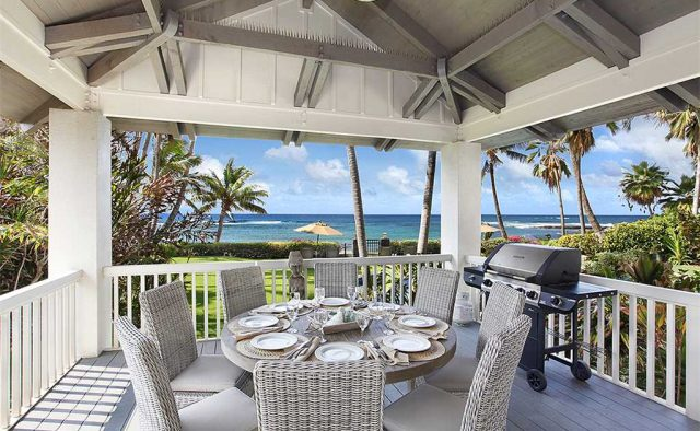 Costal Escape - Patio dining area with outdoor grill - Kauai, Hawaii Vacation Home