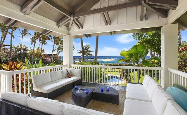 Costal Escape - Back patio sitting area - Kauai, Hawaii Vacation Home