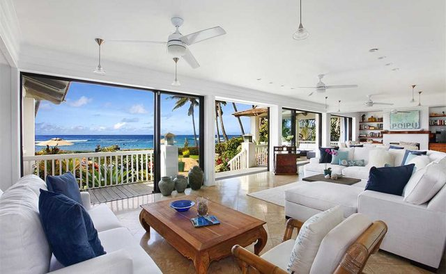 Costal Escape - Living area with a beach view - Kauai, Hawaii Vacation Home