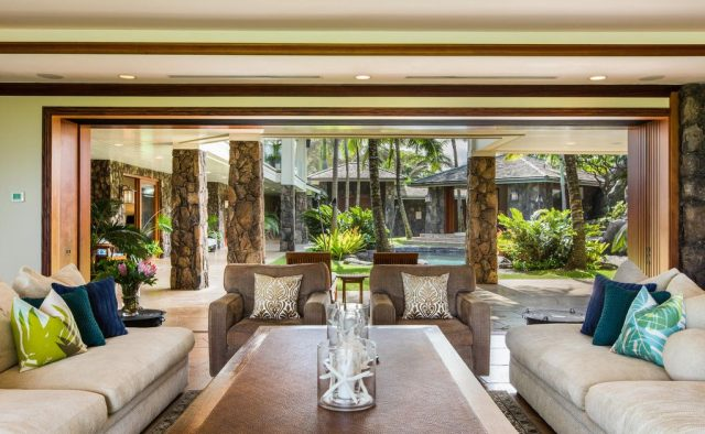 Timeless Jewel - Living Room view - Kailua Vacation Home on Oahu